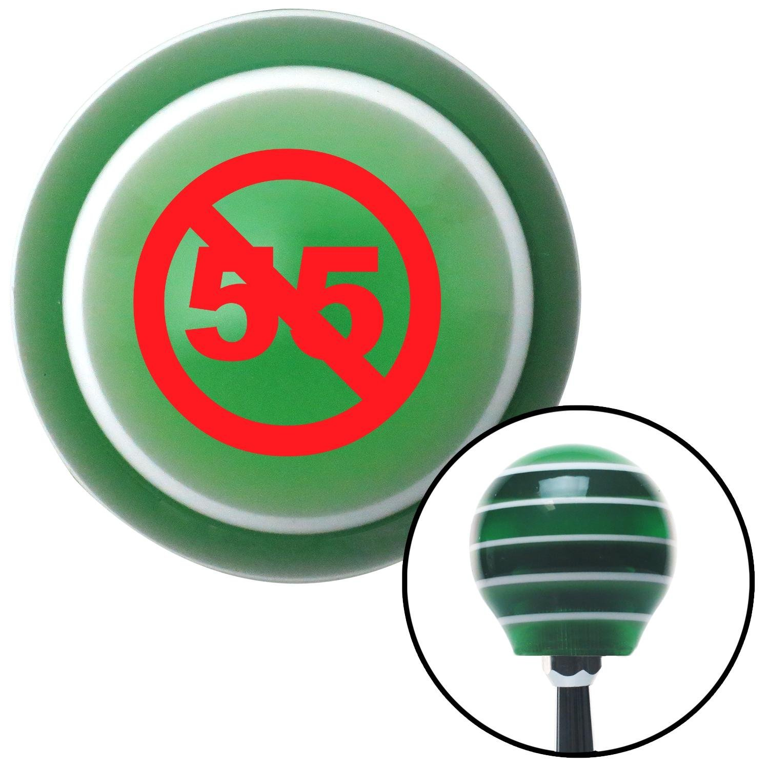 American Shifter 128496 Green Stripe Shift Knob with M16 x 1.5 Insert Red Cant Drive 55