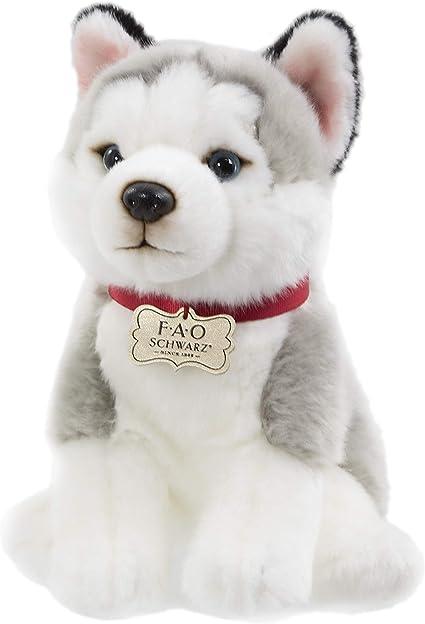 Stuffed Animal Plush Dog Life Size Toy Puppy New Cuddle Soft Kids Real Husky