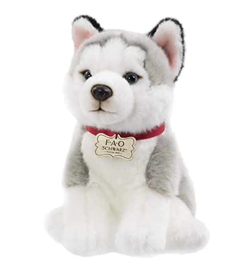9371ce877896 Image Unavailable. Image not available for. Color: FAO Schwarz Puppy Floppy  Husky Stuffed ...