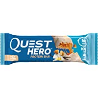 Quest Nutrition Hero Vanilla Caramel Gluten Free 2.12 oz 10 Count Protein Bar