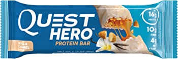 Quest Nutrition Hero Vanilla Caramel 2.12 oz 10 Ct Protein Bar