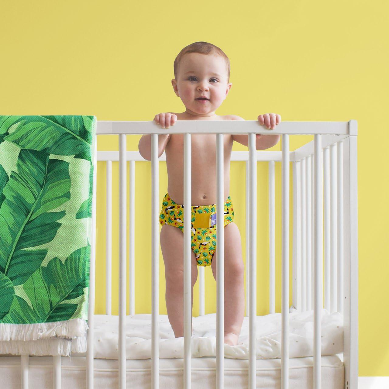 Size 2 Bambino Mio Miosoft Reusable Nappy Cover Savanna Stripes 9 kg