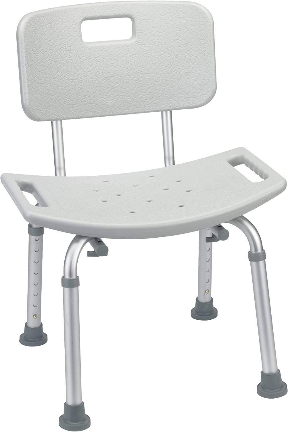 Drive Medical Bathroom Safety Shower Tub Bench Chair with Back, Grey: Health & Personal Care