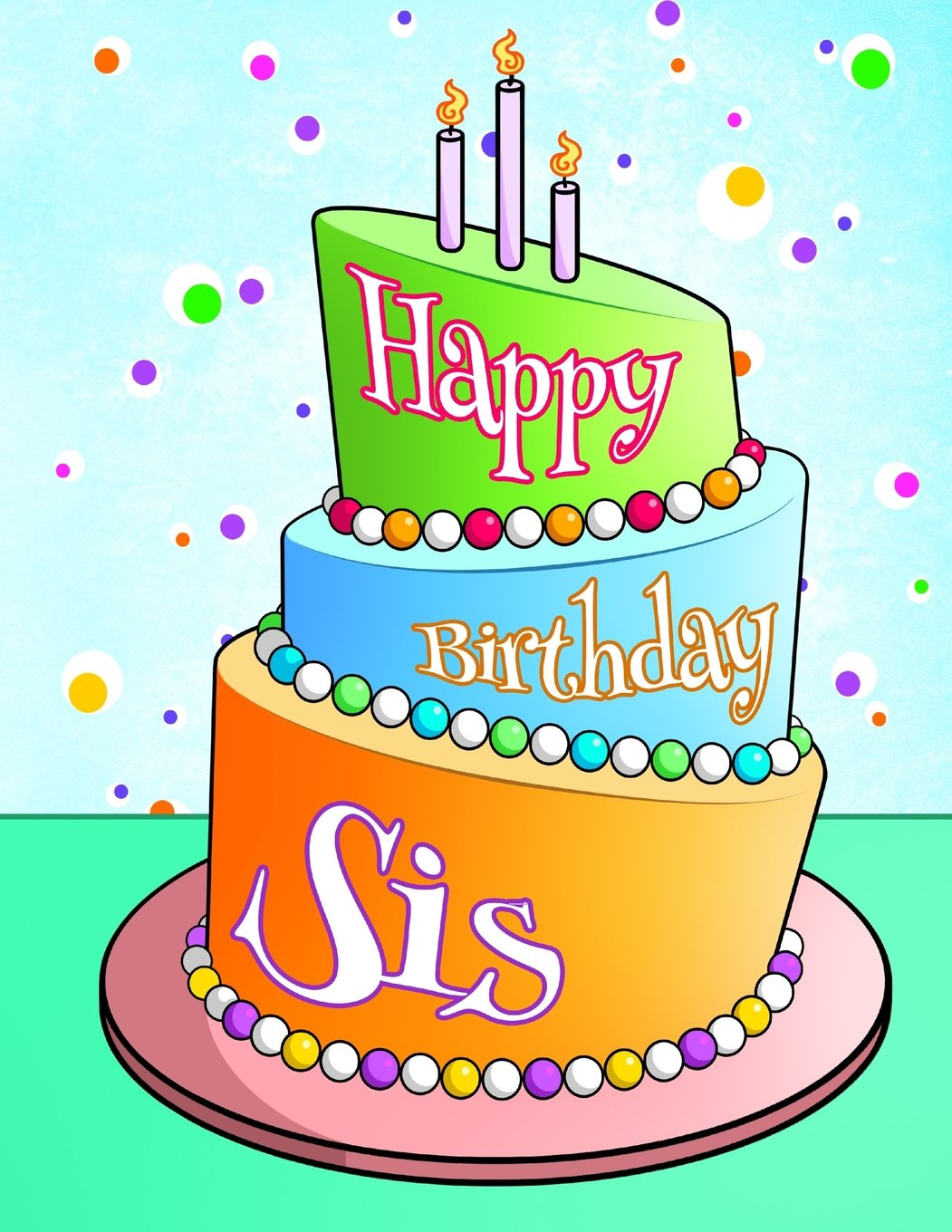 Happy Birthday Sis Personalized Book Journal Notebook
