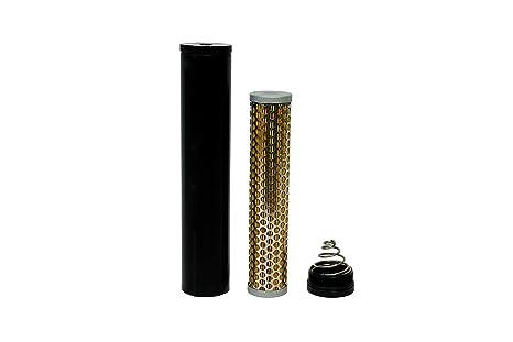 PQYRACING New Billet Aluminum Fuel Filter 1//2-28 Turbo Air Filter Compatible for Napa 4003 WIX 24003