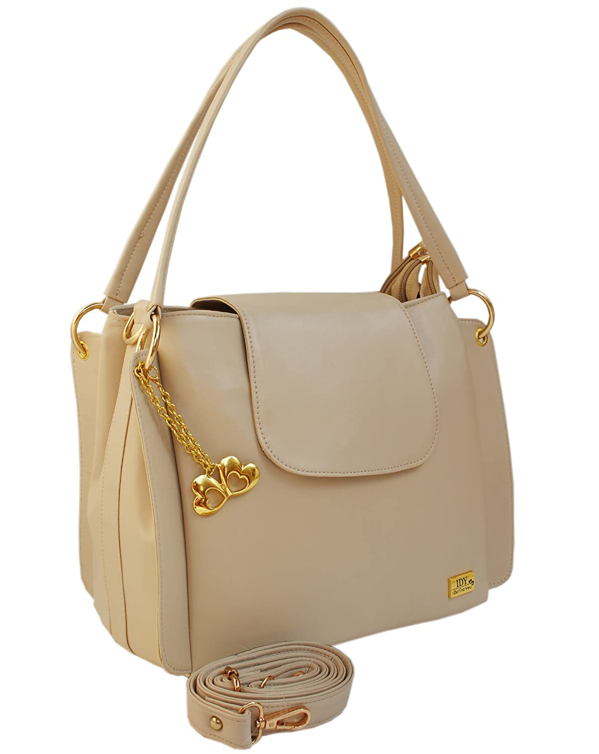 I Define You Latest Trend Cream Color Party Wear Handbag & Sling bag For Girls and Women's