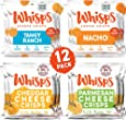 Whisps Cheese Crisps 12 Pack Assortment | Keto Snack, Gluten Free, Sugar Free, Low Carb, High Protein | Parmesan, Cheddar, Nacho, Ranch, 0.63oz (12 pack)