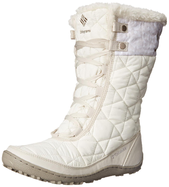 Columbia Women's Minx Mid II Print OH SNO Snow Boot B00Q7R3480 5 B(M) US|Sea Salt/Silver