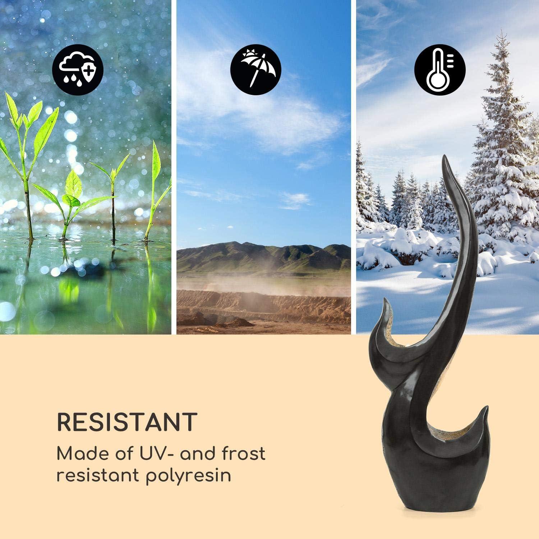 Netzkabell/änge 10m UV- und frostbest/ändig Loopflow Concept 10W f/ür drinnen und drau/ßen blumfeldt Arcadia Gartenbrunnen automatische Luftbefeuchtung LED-Beleuchtung Material: Polyresin