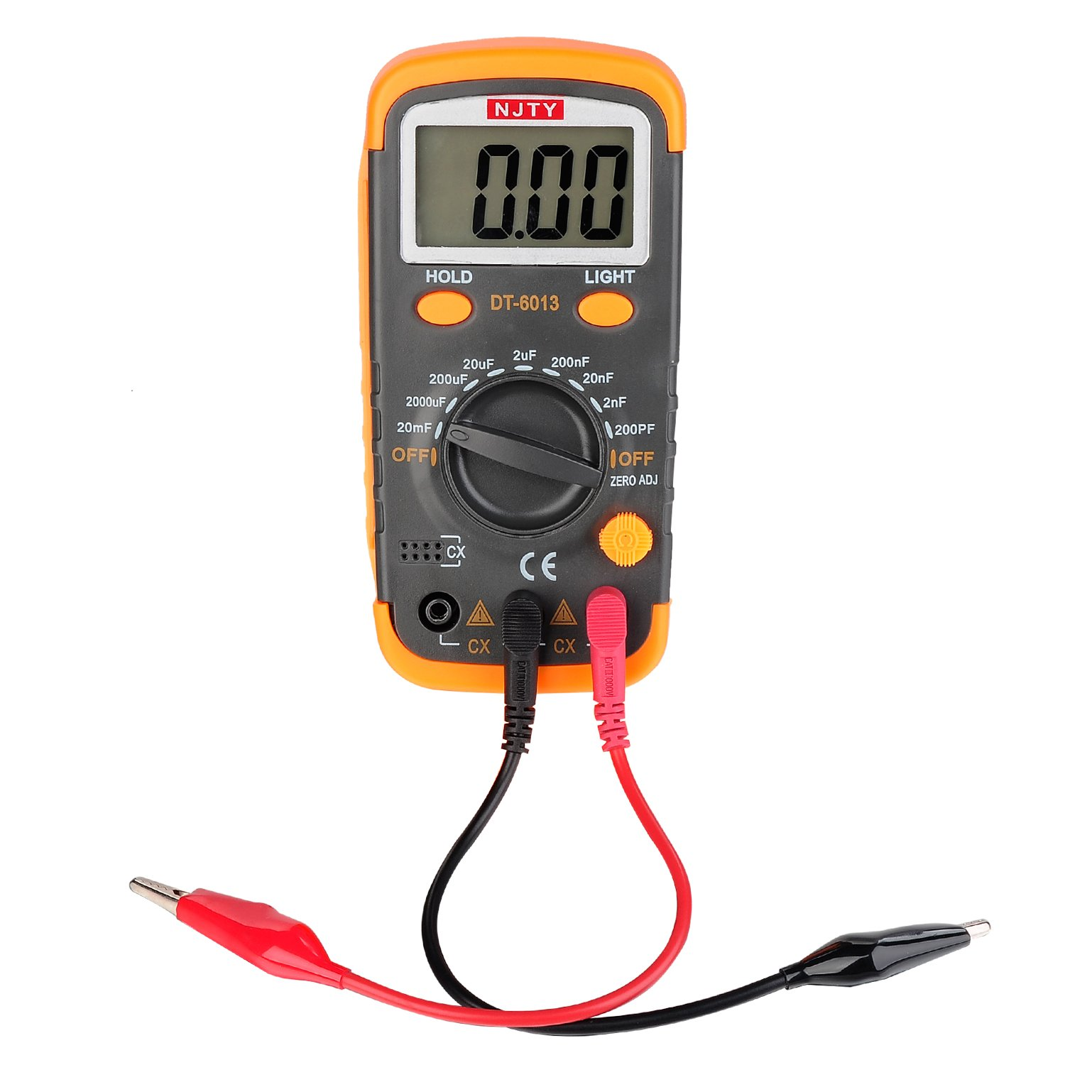 ELIKE DT6013 Capacitance Meter / Capacitor Tester 0.1pF to 20mF with Data Hold and Back Light Function/English Manual by ELIKE (Image #3)