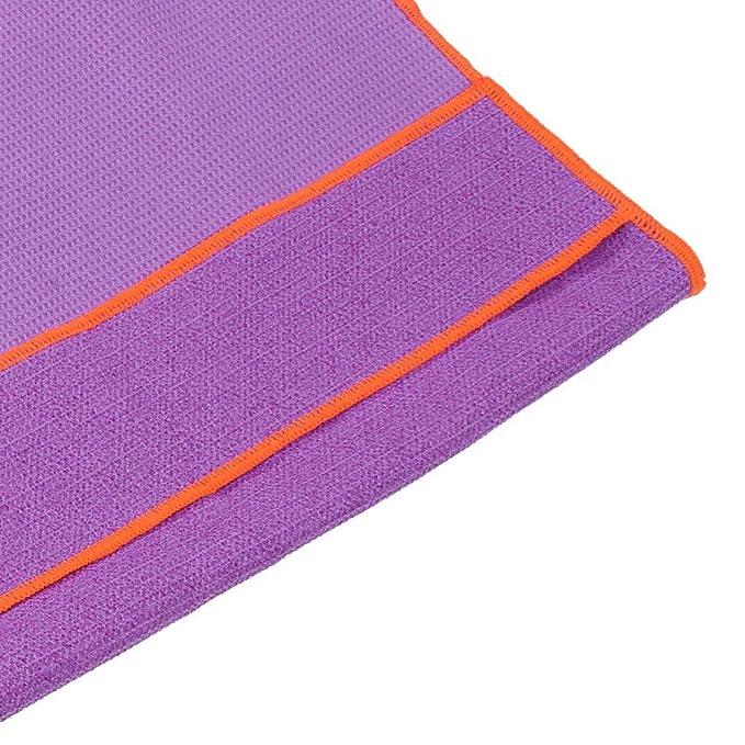 Amazon.com : eDealMax Patrón microfibra Waffle antideslizante sudor absorbente Yoga Pilates Toalla Soporte la estera del cojín : Sports & Outdoors