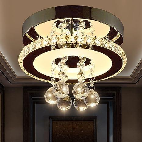 Moderno LED Lámpara de Techo Romántico Sala Cristal Claro ...