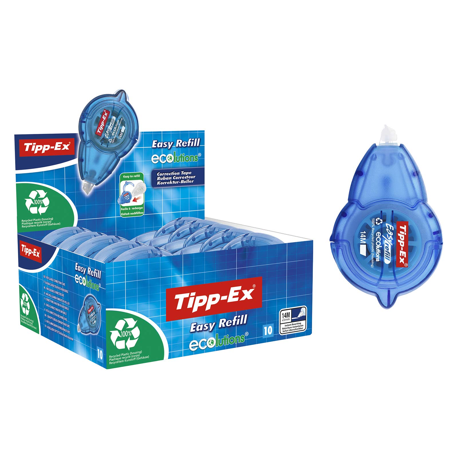 Tipp Ex Easy Refill Correction Tape 5mm x 14m - Display Box of 10