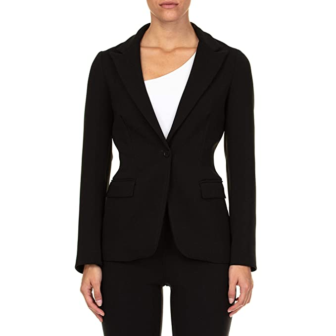 venta minorista f6601 8bd14 P.A.R.O.S.H. Mujer D420219POLOX013 Negro Algodon Blazer ...