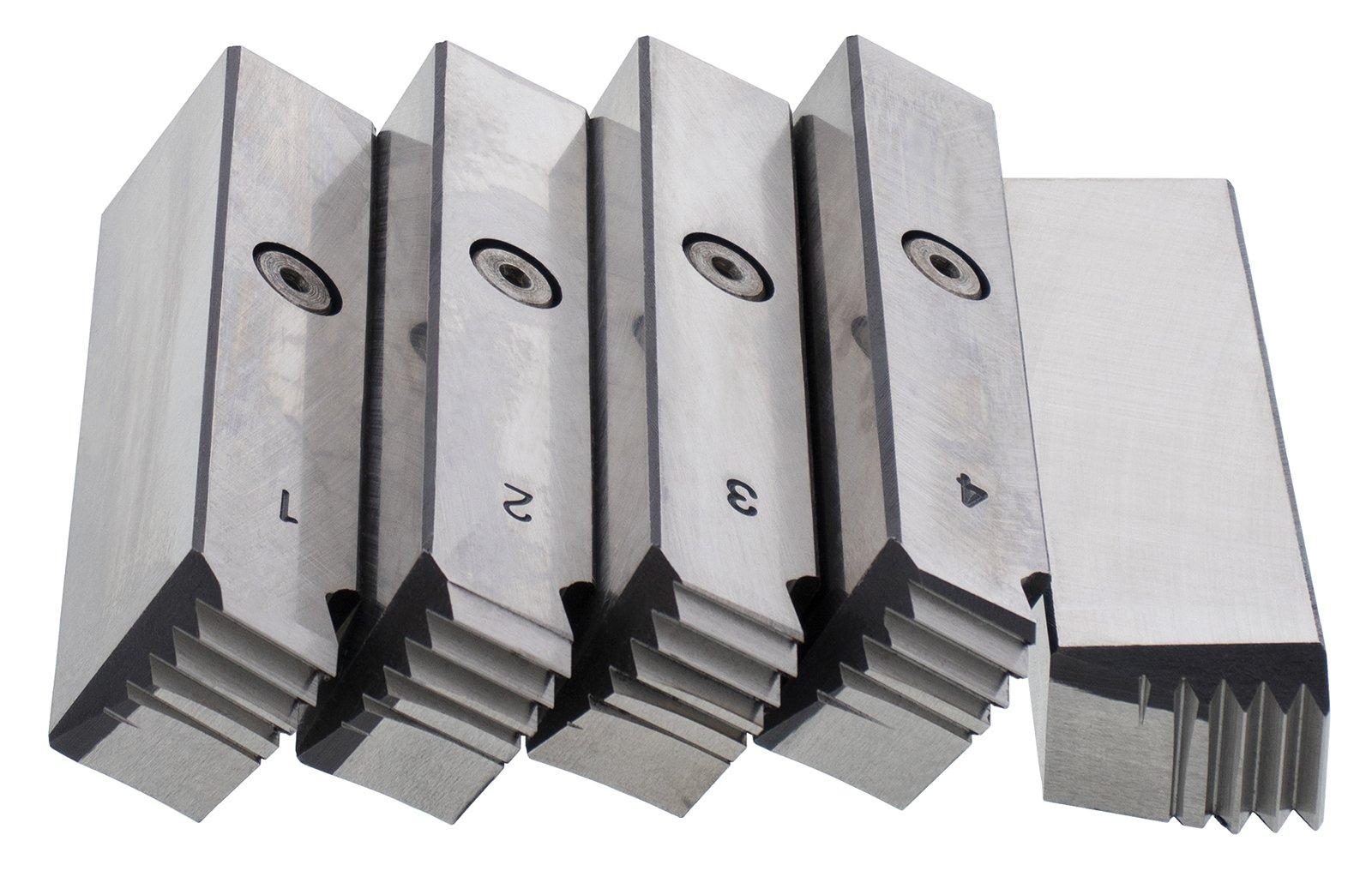 Steel Dragon Tools 38120 Pipe Dies for RIDGID 141 Receding Gear Threaders RH High-Speed Steel NPT 2-1/2-In. to 4-In.