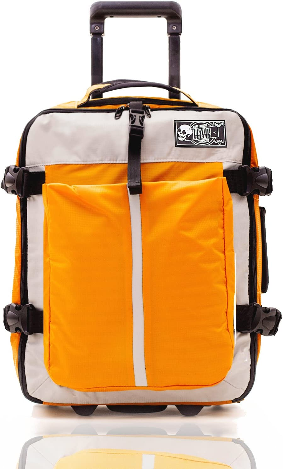 Maleta de Cabina Equipaje de Viaje de Mano Maleta Blanda de Nylon Duffel para Ryanair Easyjet 55x35x20 Trolley Juvenil by TOKYOTO Luggage 52cm Sof Yellow