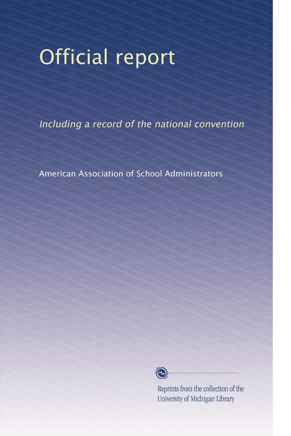 Download Official report: Including a record of the national convention (Volume 5) pdf