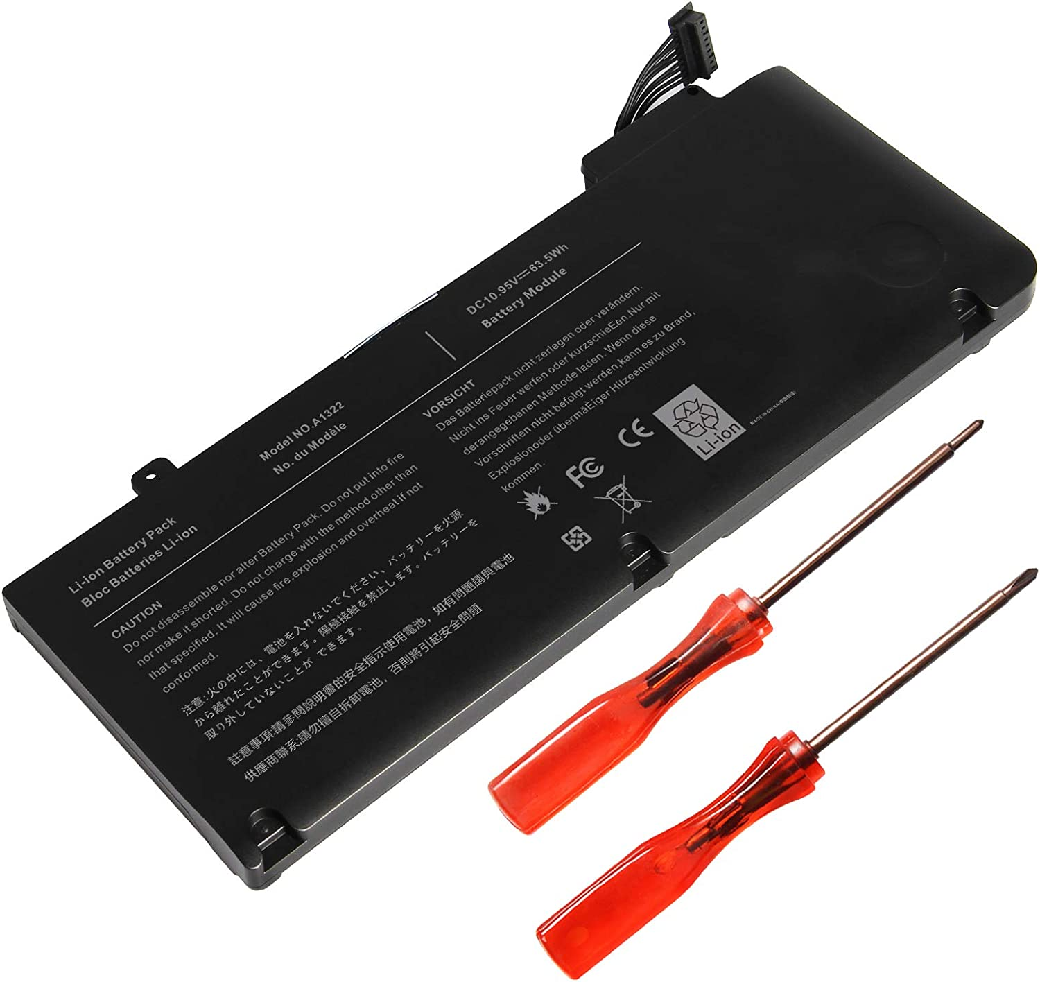 New A1322 Laptop Battery for Apple MacBook Pro 13 inch A1278 A1322 Mid 2009 2010 Early 2011 2012, fit MB990LL/A MB991LL/A MC375LL/A MD314LL/A MC724LL/A