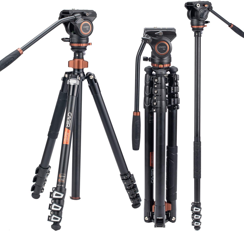 Professionelles Video Stativ Einbeinstativ Kit Cayer Kamera