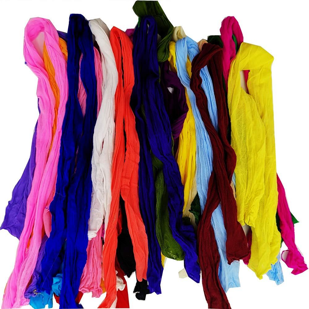 Generic Mesh Flower Stocking DIY Nylon Silk Stockings Flower for DIY Flower 48pcs Multicolor