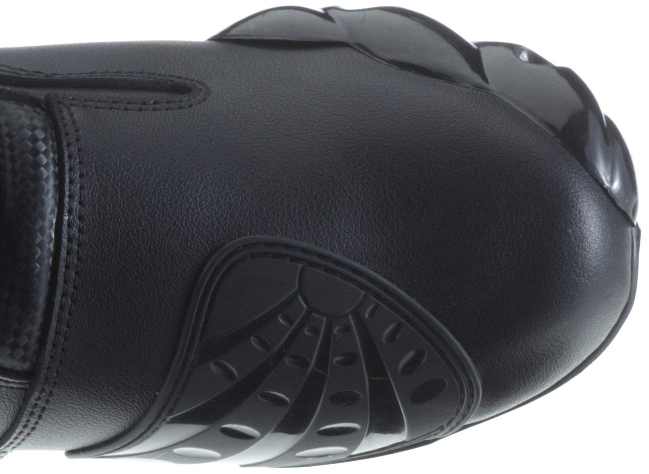Gr/ö/ße 47 Protectwear TS-006-47 Motorradstiefel Racing aliue Schwarz Wasserabweisend aus schwarzem Leder mit aufgesetzten Hartschalenprotektoren
