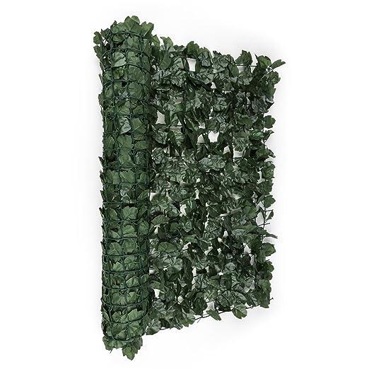 blumfeldt Fency Dark Ivy • Sichtschutz • Windschutz • Lärmschutz • 300x150 cm • Efeublätter • hohe Blickdichte • kunststoffum