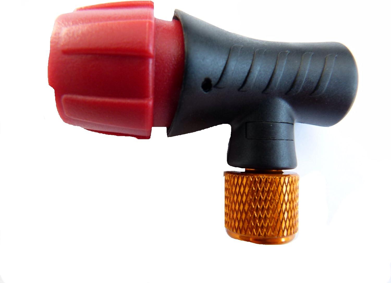 Adaptador de Cartucho Inflador Bomba CO2 para Presta y Schrader ...