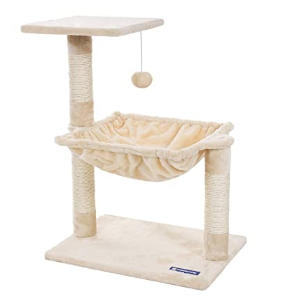 Amazon.com : feandrea Cats Climb Tree Steady Cat Tree with Plush and Soft Hammock PCT82M : Pet Supplies