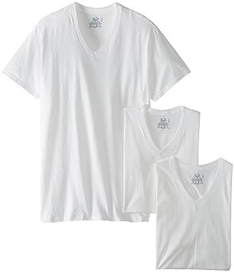 Fruit of the Loom Men's 3-Pack Tall Size V-Neck T-Shirt, White, XLT