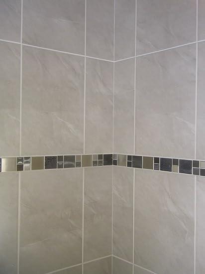 20m2 Stone Effect Grey Ceramic Bathroom Wall Tile Deal Inc Stunning - Grey-bathroom-wall-tile