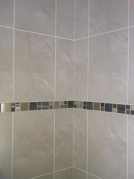 20m2 stone effect grey ceramic bathroom wall tile deal inc stunning