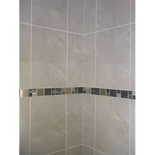 Glass Tile Borders Bathroom: Border Tiles Bathroom: Amazon.co.uk
