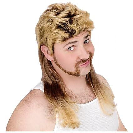 Amazon.com  Super Mullet Wig Costume Accessory  Toys   Games a4acf0556e
