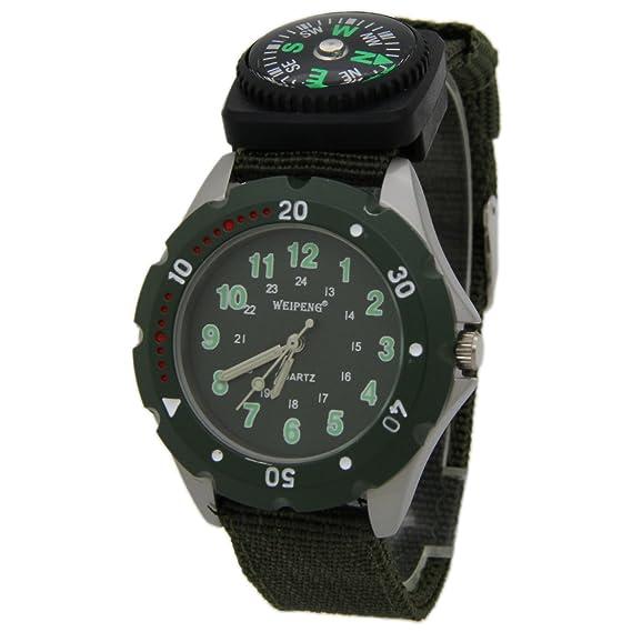 Sanjun WEIPENG esfera verde con verde números arábigos fluorescentes reloj de  cuarzo color verde  Amazon.es  Relojes 7f0d06ef31b0
