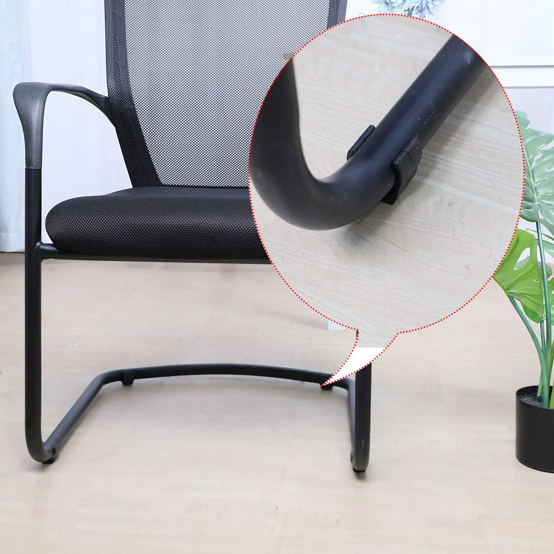 uxcell/® Breuer Chair Foot Floor Glides Single Prong U-Shape Caps 20mm 10 Pcs