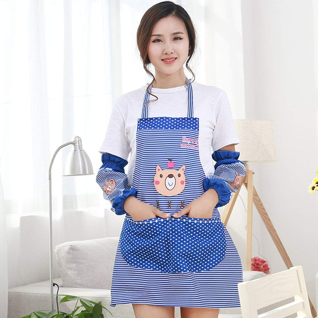 Swiftswan Simpatici grembiuli orso con grande tasca impermeabile e resistente allolio cucina bavaglino per coppia ragazze sorelle donne uomini