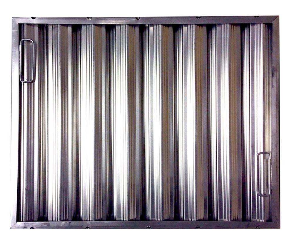20'' tall x 25'' wide x 2'' Trine Heavy Duty Aluminum Restaurant Hood Baffle Filter (Dual Riveted / Ridged Baffle)