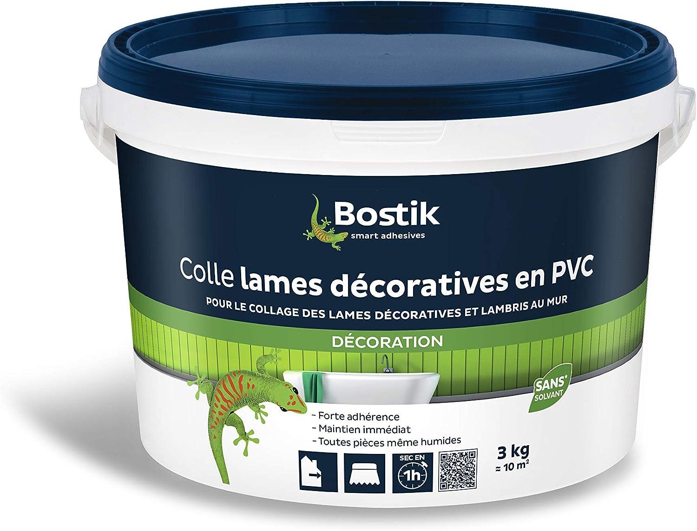 Bostik Colle Lames Decoratives En Pvc Seau 3kg Amazon Fr Bricolage