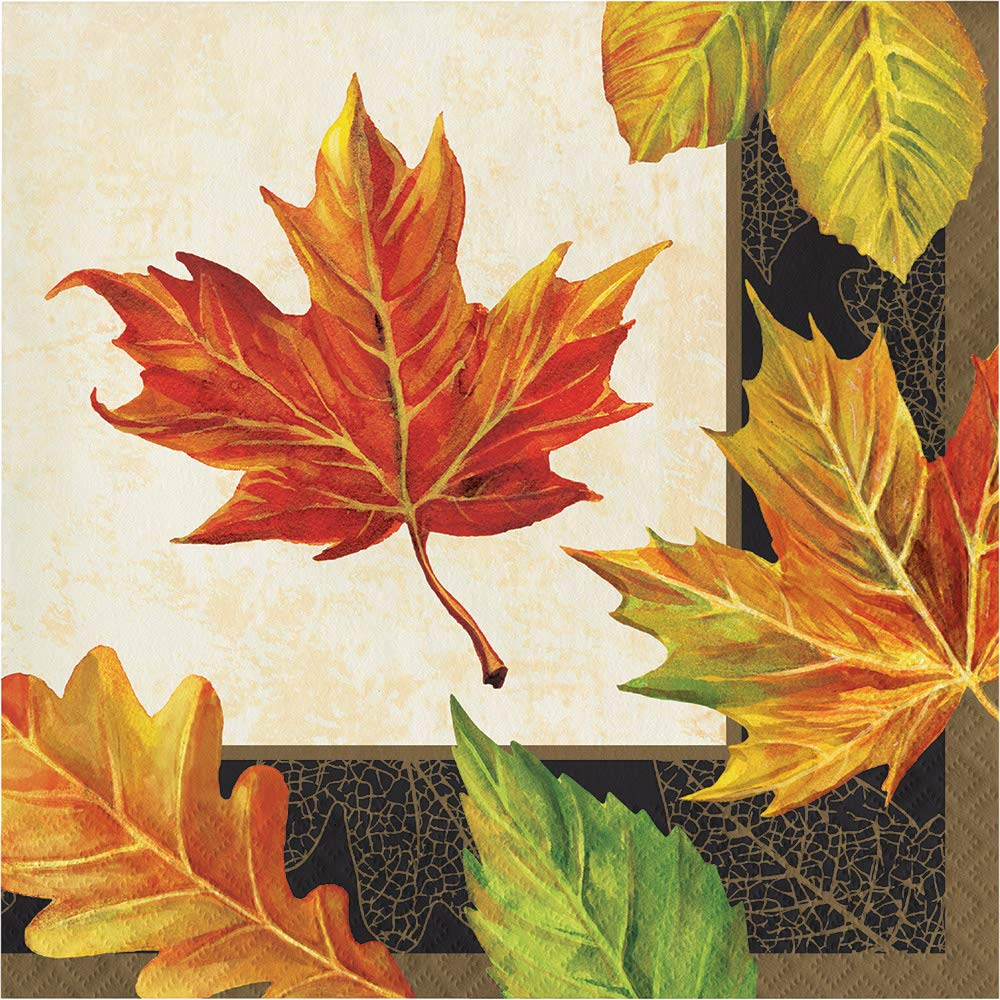 Creative Converting 332025case Elegant Fall Napkins, One Size, Multicolor