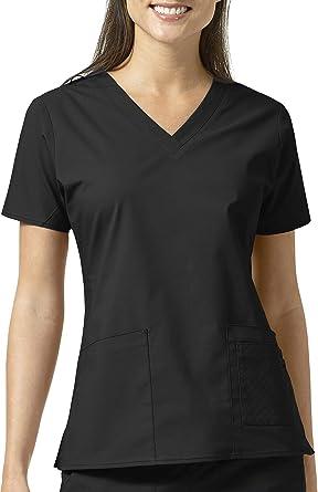 737da676e7b Amazon.com: Vera Bradley Signature Collection Women's Maya V-Neck Quilted Scrub  Top: Clothing