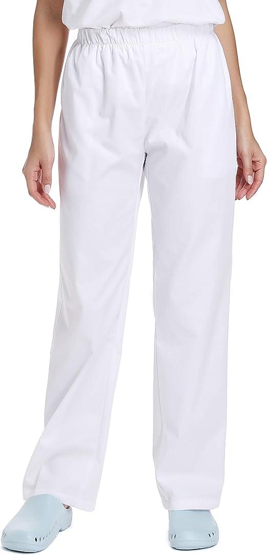 pantalones de trabajo mujer blancos
