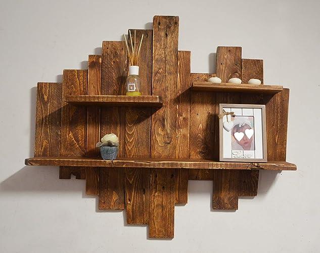 Legno Grezzo Per Mensole : Mensola in legno grezzo riciclato pensile rustico di pallet in