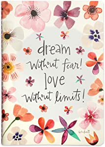 Brownlow Gifts Simple Inspirations Softcover Journal, 6 x 8-Inches, Dream Without Fear
