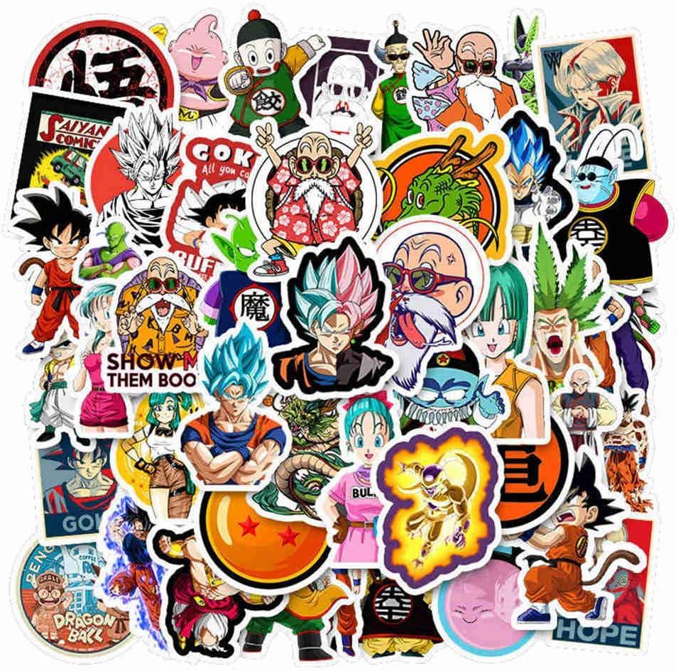 Amazon Com Perfect Kim 50 Pcs Dragon Ball Z Graffiti Sticker Super Saiyan Goku Stickertrolley Case Laptop Skateboard Stickers For Kids Arts Crafts Sewing