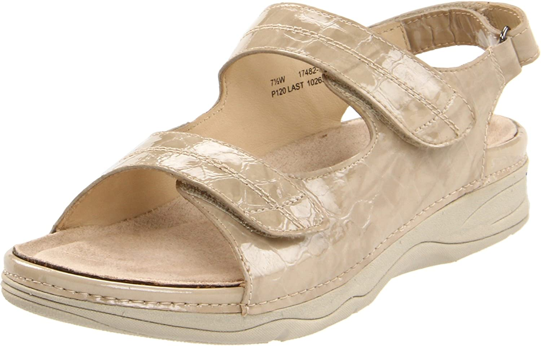 Drew Shoe Women's Dora Comfort Sandal B005YGPE0Q 8.5 B(M) US|Bone Croc