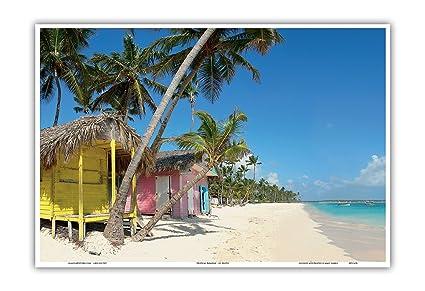 Pacifica Island Art Paraíso Tropical – casetas de Playa – Colorido Color Original Fotografía por Impresión