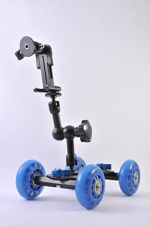 Mini cámara de vídeo réflex Glide cuadro ferrocarril coche rodillo ...