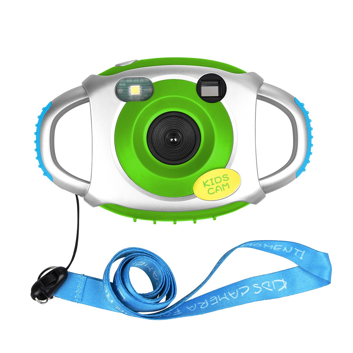 Tyhbelle Kids Camera for boys girls cam for kids Creative Lightweight Digital Camera for Kids with Soft Silicone Protective Shell (Green,without card)