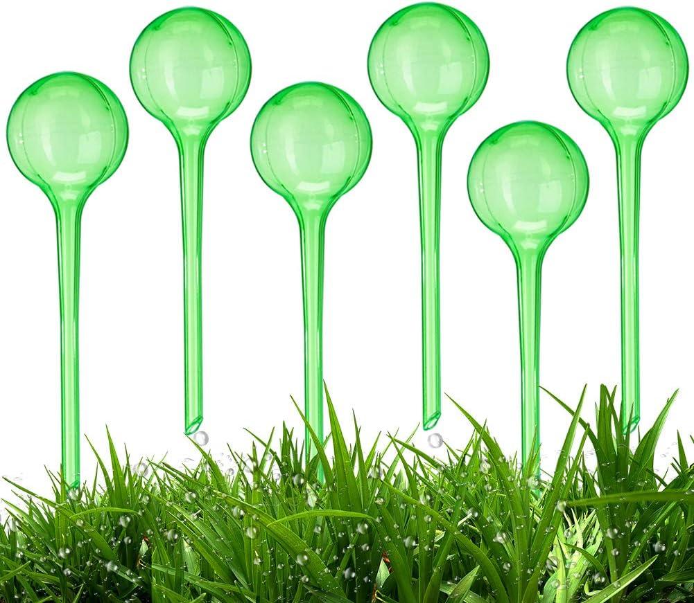 for Garden Home Retractable Potted Plants BETOY Watering Balls Dosed Irrigation Indoor Outdoor Watering Water Dispenser Set of 6 2 Weeks Transparent PVC Plastic