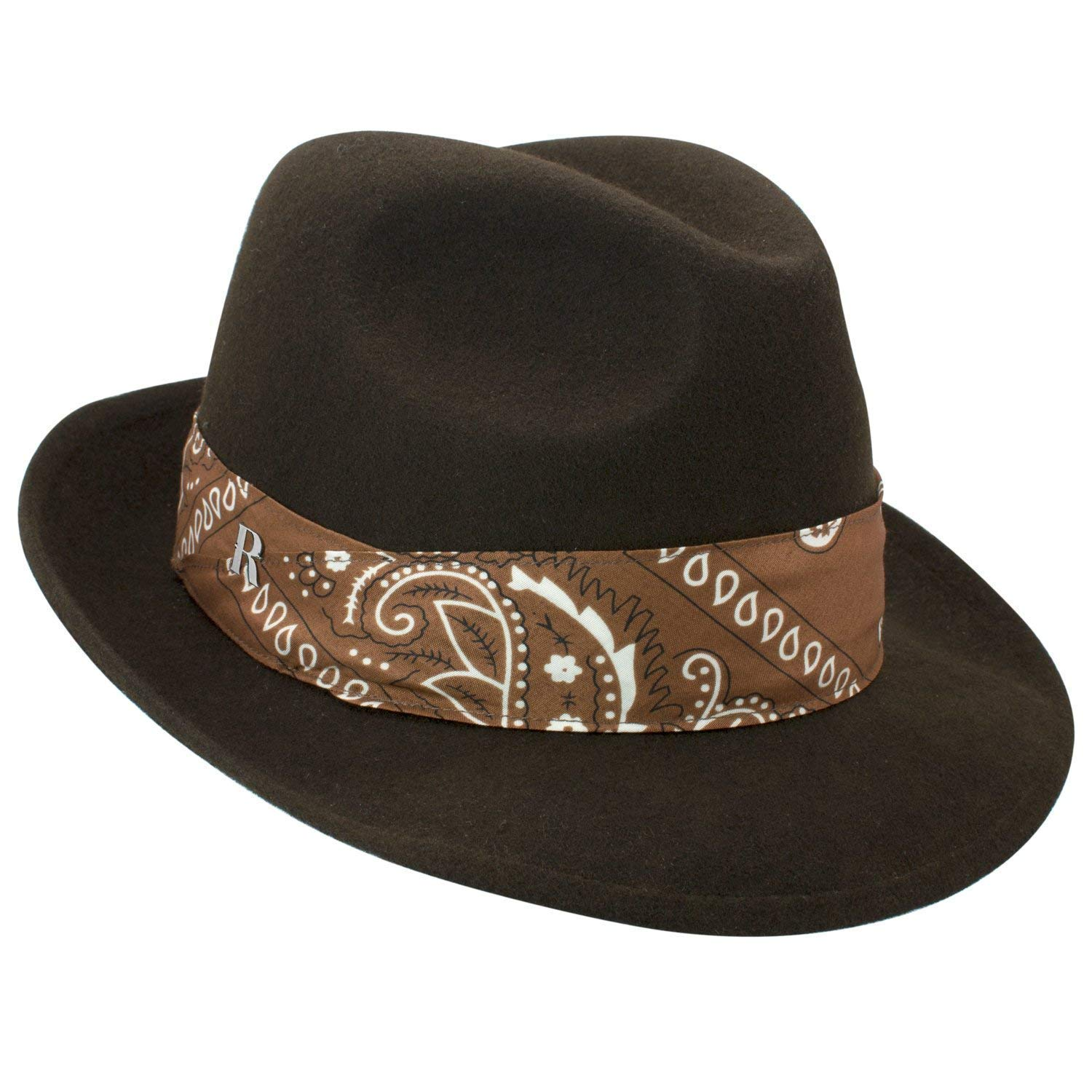 Amazon.com: RACEU ATELIER Mission Brown Hat - Mid Brim Fedora Hat - 100% Wool Felt - Fedoras & Trilby Hats - for Men & Women: Handmade